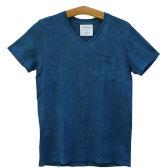 本藍染 VネックTシャツ birdog