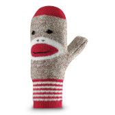 Red Heel Monkey Mitten  ADULT
